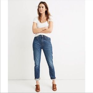NEW Madewell High Rise Slim Boyjean Jeans
